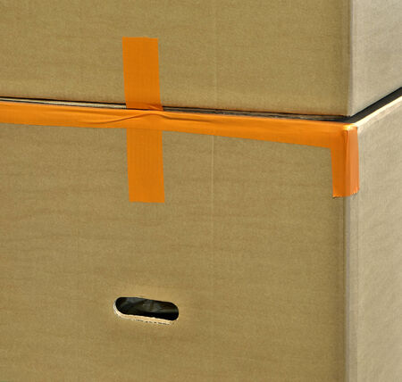 prepack: Storage boxes with industrial products inside.