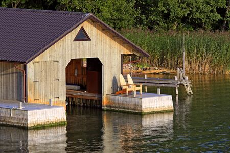 boathouse: Decent boathouse with sheet metal roof (Aland Islands).