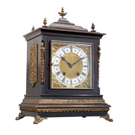 embellishments: Vintage table clock with Roman numbers and embellishments.