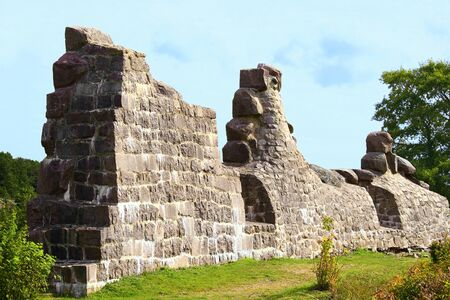 heritage protection: Part of historical Russian fortress ruins in Bomarsund Aland Islands.
