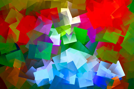 vectorized: Colorful squares confused - digital manipulation, not vectorized. Stock Photo