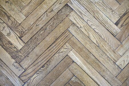 parquet texture: Fifty years old parquet made of oak wood.