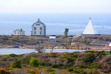 archipelago: Kobba Klintar, an old pilot station in Aland Island archipelago with cafe and museum in summer. Editorial