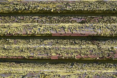 decades: Wooden wall in severe climate conditions, unpainted for decades. Stock Photo