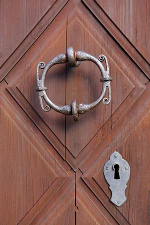 embellished: Beautiful door handle and knocker based on viking art of Jomala Church in Aland Islands.