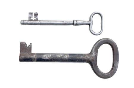 granary: Ancient granary keys, isolated on white.