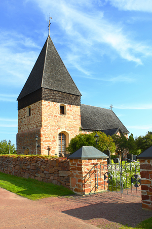 Eckerö parish church in Kyrkoby (Aland islands, Finland). Stock Photo