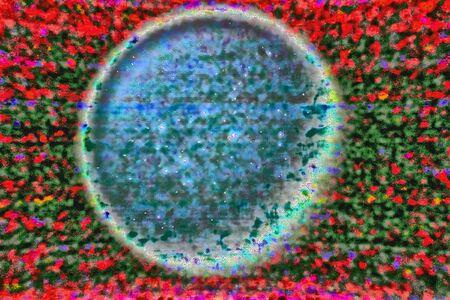 Abstract wazig chromatisch geluid afbeelding met schijf. Stockfoto