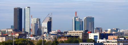 Panoramic view of Tallinn City Center from the Tallinn Bay.