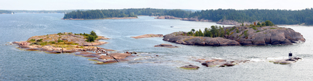 Panoramic view of the Turku Archipelago  in summer (Finland).