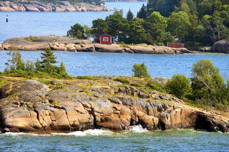 Aland archipelago on cruising route from Tallinn to Mariehamn.