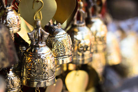Bells in the temple ChiangMai, THAILAND. Stock Photo