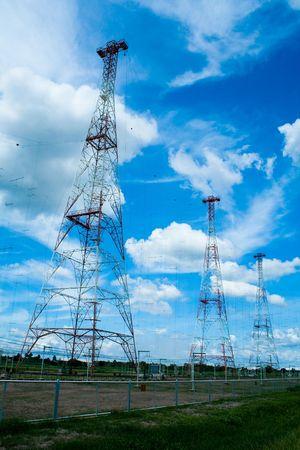 Electricity poles - Hi voltage Stock Photo - 7377969