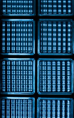 blue glass wall texture detail  photo