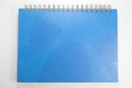 the blue cover of note book  photo