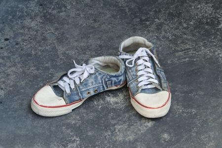 old jean sneaker  photo