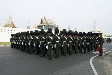BANGKOK, THAILAND - MARCH 25  The Royal Cremation Ceremony of Prince Bejaratana Rajasuda Sirisobhabannavadi  Members of the Sanam Luang, Bangkok, Thailand  March 25, 2012  Stock Photo - 12848437