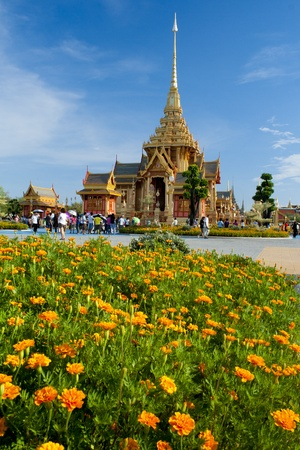 bejaratana: BANGKOK, THAILAND - APRIL 14  The Royal Cremation Ceremony of Prince Bejaratana Rajasuda Sirisobhabannavadi  Members of the Sanam Luang, Bangkok, Thailand  April 14, 2012