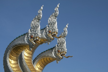 King of Nagas or Thai Dragon photo