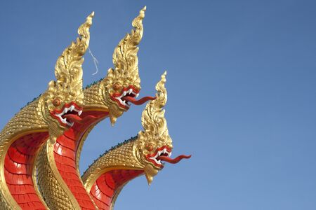 King of Nagas or Thai Dragon photo