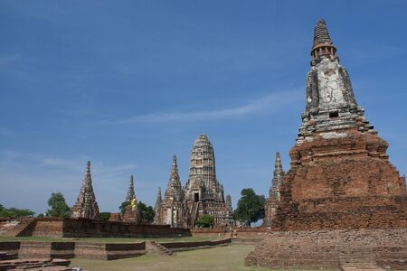 Chaiwattanaram temple in Ayutthaya Historical Park , Thailand photo