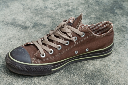 brown sneaker photo