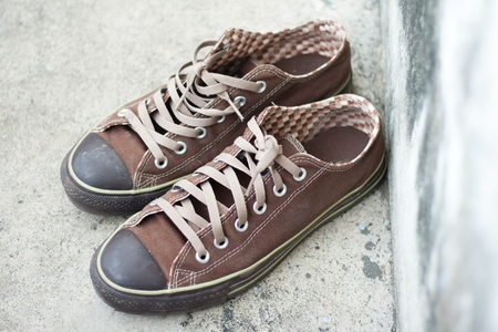 brown sneaker photo