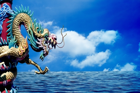 Dragon king of the ocean Stock Photo