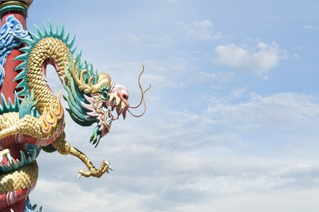 Dragon king on sky Stock Photo - 14974793