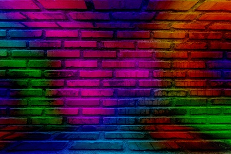 abstract colorful brick wall photo