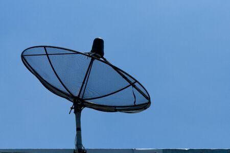 Satellite dish in blue sky Stock Photo - 15391049