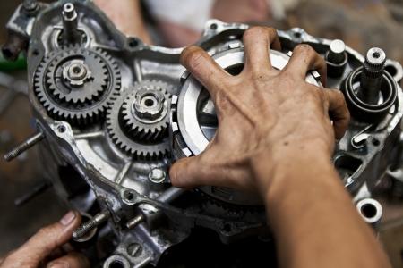 Motorcycle engine repair Stock Photo - 15594381