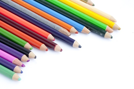 Color Pencils on Isolated White Background photo