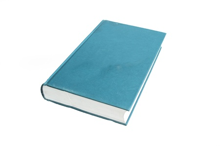 blue hardcover  book isolated on white background Stock Photo