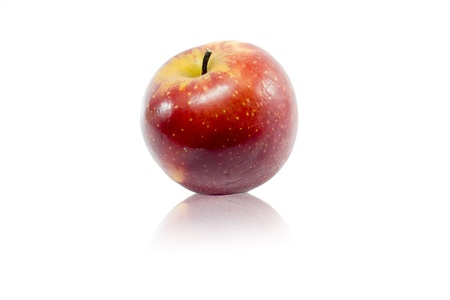 red apple on a white background photo