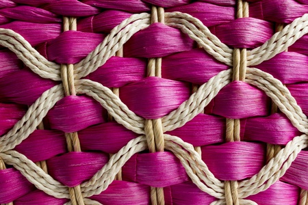 wickerwork: Basketry of rattan, made in Thailand  Stock Photo