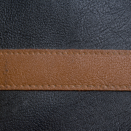 Luxury black and brown leather photo