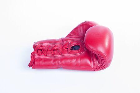 mitt: Red Boxing mitt Stock Photo