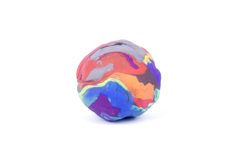 clay ball colors on a white background