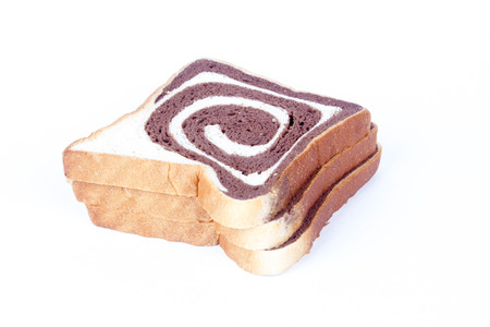 Chocolate Bread on white background