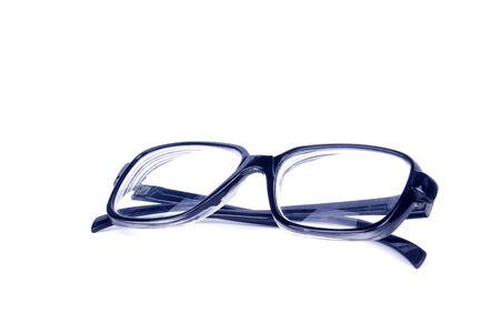 Black Eye Glasses on White