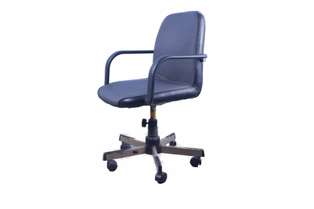 Old office chair isolated on white background Stock Photo