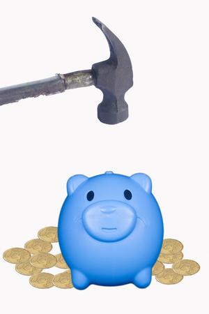 hammer to smash piggy bank