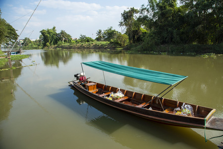 wooden boat on canal