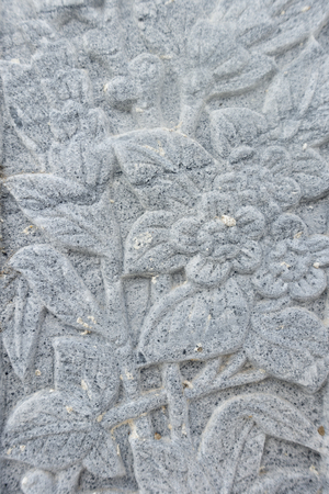 flower carving decorated on stone