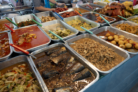 Thailand street food. in rayong Stock Photo