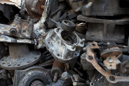 scrap metal from car engine 版權商用圖片