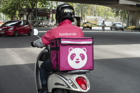 Bangkoki, Thailand - 7 May 2019:  Delivery food service of Food Panda