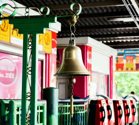 peal: The bells that reminded when the train was coming.
