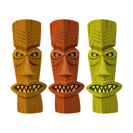 hawaiian tiki: TIKI IDOL Illustration